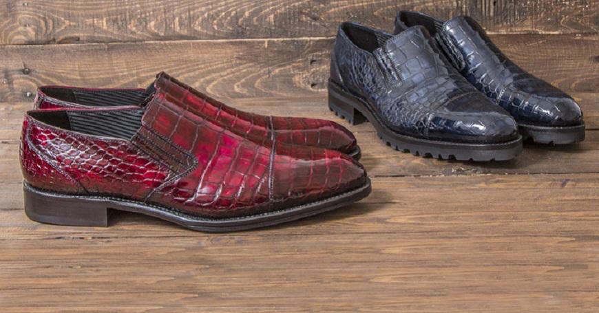 Pakerson crocodile leather shoes